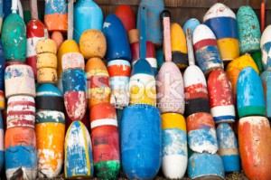 stock-photo-16348945-colorful-lobster-buoys